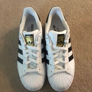 Brand New Adidas Superstar Sneakers - Size 7.5